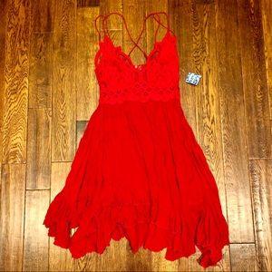 Free people brand new Adella lace dress